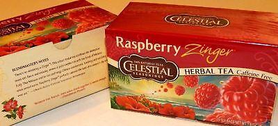 2 PACK New Celestial Seasonings Raspberry Zinger Herbal Tea Bags Celestial Seasonings Raspberry Tea