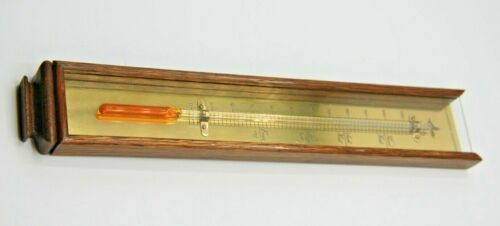 BEAUTIFUL CONDITION ANTIQUE VINTAGE  THERMOMETER - 11 X 2  INCHES - BRAND ?