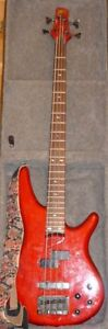 Ibanez SR800 4-string bass guitar with hard-shell case