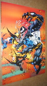 Just-in-Last-One-Xmen-Wolverine-Vs-Venom-Spiderman-Joe-Madureira-Marvel-Poster