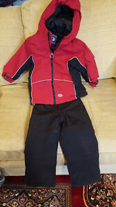 SNOW SUIT - RED 2T