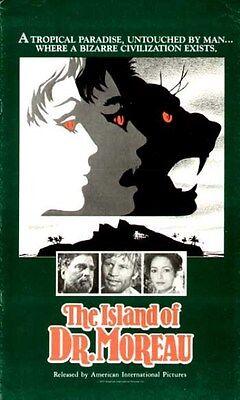 ISLAND OF DR. MOREAU - 1977 - orig UNCUT Press Book - 12 Pages - BURT LANCASTER
