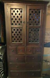 Balinese style wooden storage cabinet Berwick Casey Area Preview