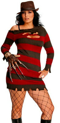 Sexy Adult Miss Freddy Krueger Nightmare on Elm St Costume - PLUS Size 16-22 -