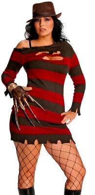 Sexy Adult Miss Freddy Krueger Nightmare on Elm St Costume XL PLUS Size - Miss Krüger Kostüm