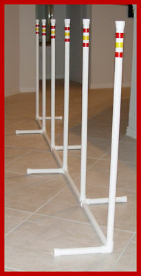 """6 """"NEW STYLE"""" WEAVE POLES 2 x 2 Dog Agility Equipment"""