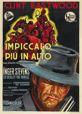 Hang Em High  1968   Clint Eastwood Cult Movie Poster Print
