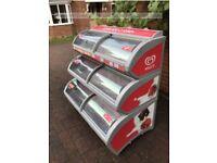 IARP Visimax 3 Tier Ice Cream Freezer Commercial Sliding Doors