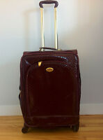 Valise faux cuir bourgonne - Burgundy fake leather luggage