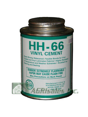 Hh-66 Vinyl Repair Cement - 8 Oz Can For Tarp Repair Bounce House Repair