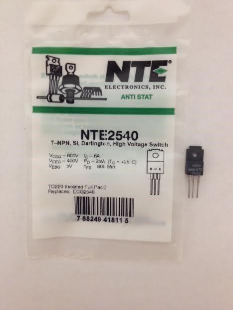 NTE NTE2540 T-NPN, Si, Darlington, High Voltage Switch