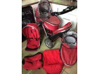 Babystyle Oyster Max Tomato Red Double Travel system Rpp 900