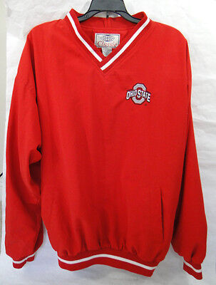 Classic Ohio State Buckeyes V Neck Pullover Windshirt Adult -