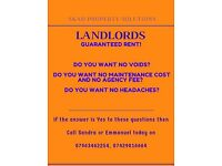 LANDLORDS, GUARANTEED RENT / WE BUY HOUSES FAST IN CASH