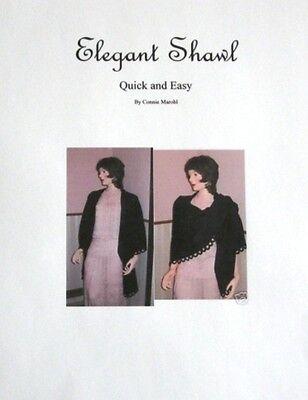 Elegant Shawl - knitting machine pattern! Standard guage