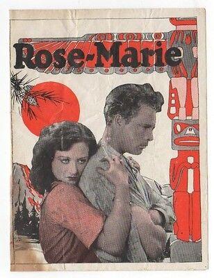 JOAN CRAWFORD - Vintage 1928 MGM Film ROSE-MARIE Silent Screen MOVIE HERALD