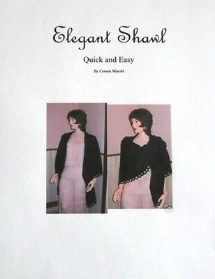 New Wrap Shawl knitting machine pattern - Quik and Easy