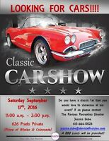 Classic Cars Needed for Car Show