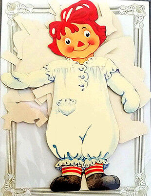 RAGGEDY ANN PAPER DOLL Stands to Display! MINT Condtion/Factory Sealed SHACKMAN