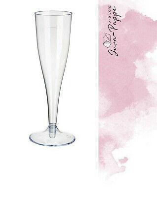 20 Sektgläser Sektglas 0,1 l Plastik Einweg zweiteilig
