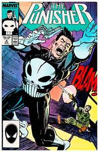 The Punisher Vol.II Issue #4 (1987) Marvel Comics 1st Microchip