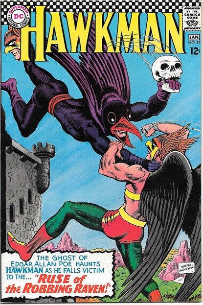 Hawkman Comic Book #17 DC Comics 1967 VERY FINE
