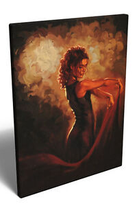 Mark Spain Contemporary Framed Canvas Art Print Picture Spanish Flamenco Dancer