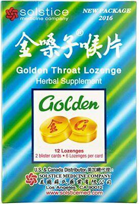 (16 Boxes) Solstice Golden Throat Lozenge Jin Sang Zi Hou Pian 12 Drops (2g) X16
