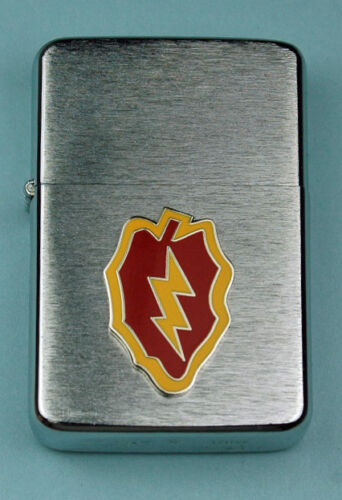 25th INFANTRY DIVISION ARMY WIND PROOF PREMIUM LIGHTER -  GIFT BOX  ARMY