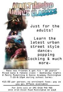Adults Hiphop Classes in Rockingham $15pp Rockingham Rockingham Area Preview