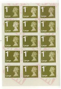 30 x 1st Class LARGE First Stamps Unfranked OFF PAPER With Sticky Easy Peel Back