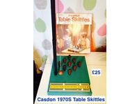 casdon table skittles game boxed vintage