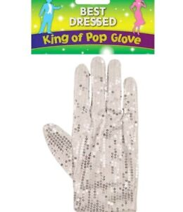 Fancy Dress Michael Jackson Silver Sequin White Glove Billy Jean King Of Pop 80s