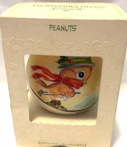 Hallmark Keepsake Satin Christmas Ornament Peanuts Dated 1981