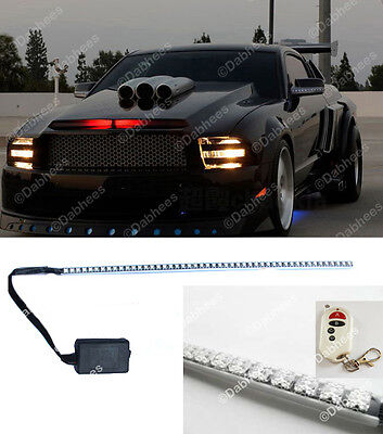 RED 48 LED WATERPROOF KNIGHT RIDER LED LIGHT SCANNER - FLASH STROBE KIT