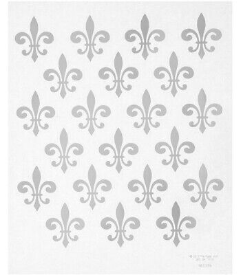 2 Sheets Silver Fleur De Lis Foil Stickers Papercraft Envelope Seals Planner