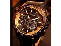 Dial Army Military Men Fashion Leather Band Quartz Wrist Watch
