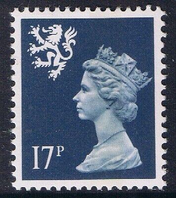 GB QEII MNH Scotland SG S58 17p Deep Blue CB Regional Machin Definitive.