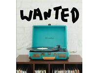 WANTED: Crosley cruiser record player / turntable in dark turquoise