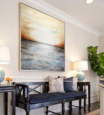 48 X 48 ORIGINAL LARGE LANDSCAPE ABSTRACT ART CANVAS PAINTING L. Beiboer - $795.00