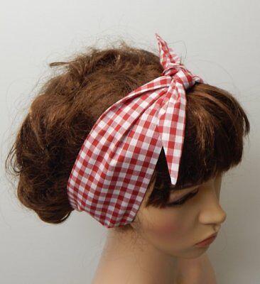 Rockabilly headband retro head wear self tie hair scarf women 50's head wrap