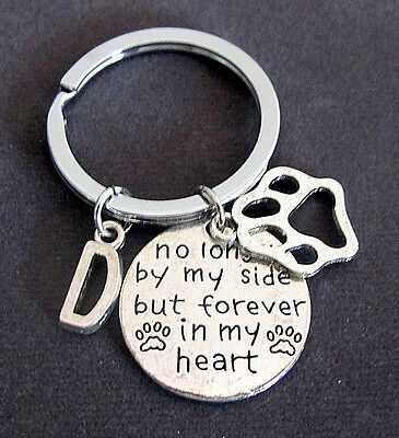 No Longer By My Side But Forever In My Heart,Dog Memorial Personalized Keychain