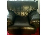 Single brown leather chair