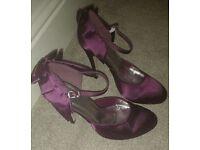 Plum courts/heels