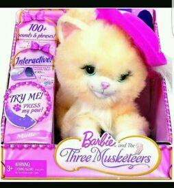 Mattel barbie 3 musketeers cat interactive mint