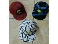 3 x Monster Energy Caps