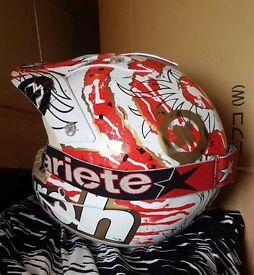Airoh helmet large Bargy design goggles mx motorcross honda yamaha cr yz ktm rm
