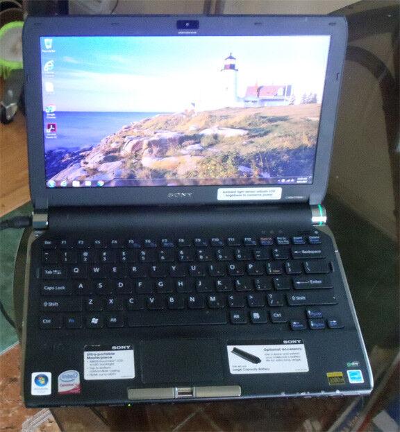 vgn-tt160n intel core duo  160Gb hard drive 4Gb memory DVD RW wireless