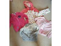 Bundle of girls jumpers and coat aged 7-8