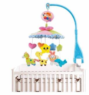 WowMart Baby Bed Bell Musical Crib Ring Hanging Rotate Bell